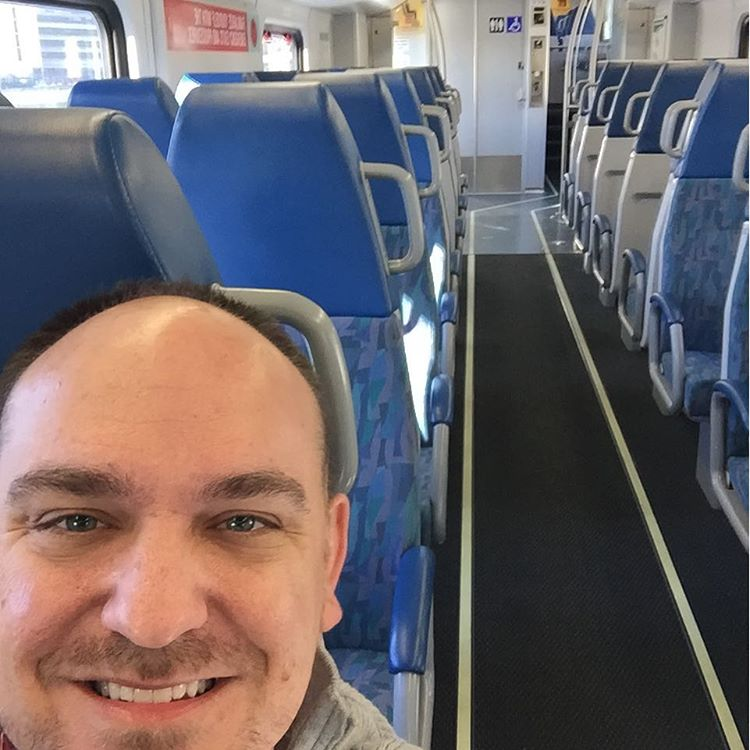 An empty train car all for me? Yes please! ridingtherailshellip