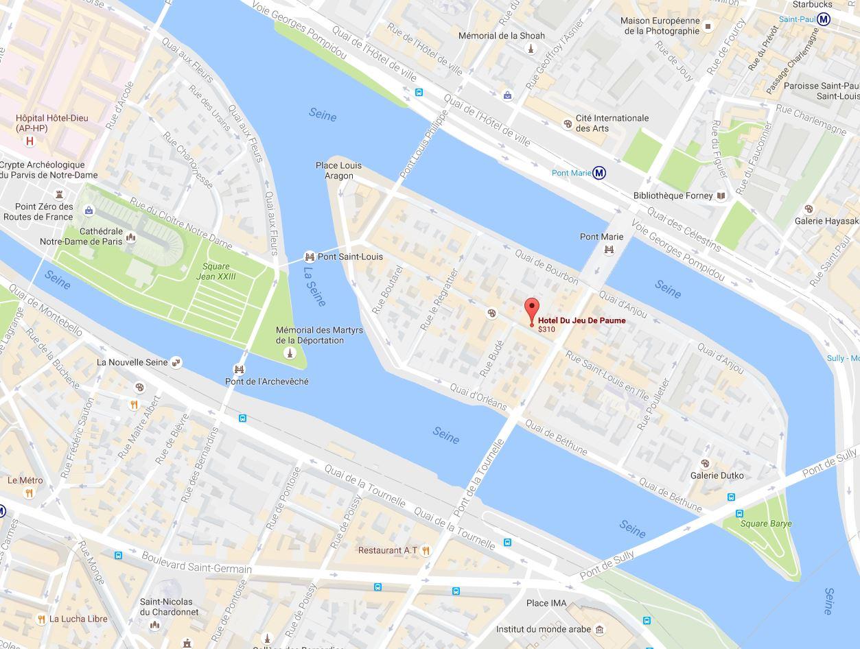 Paris for Paris hotel map
