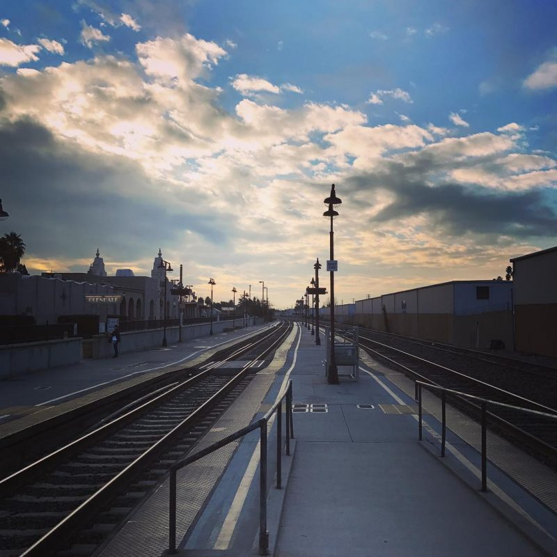 A beautiful morning at the Glendale train station and ahellip
