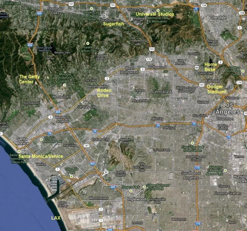 LA Map - Alyssa Jon trip v2 notated