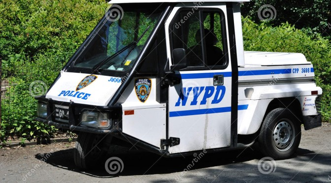 You CAN get pulled over by those little NYC carts!