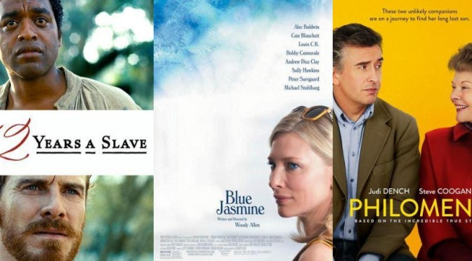 Triple Shot: 12 Years a Slave, Blue Jasmine, Philomena