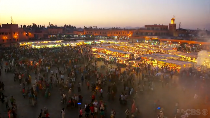 The Marrakesh market at dusk - very magical!