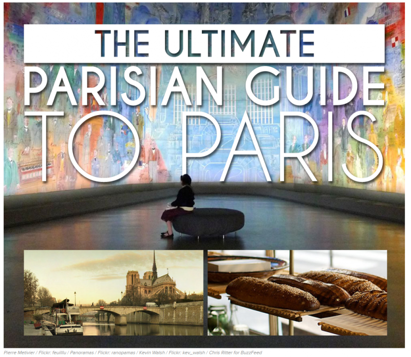 Buzzfeed Provides a Parisian's Guide to Paris |