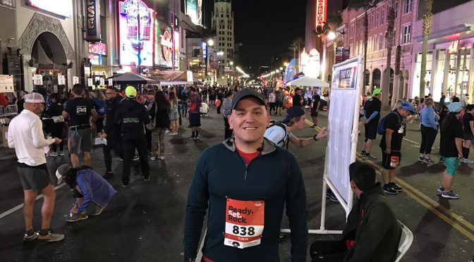 Running a 10k Along Hollywood Blvd