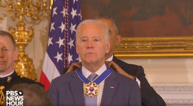 Obama Awards Handsome Joe and I'm All In Tears