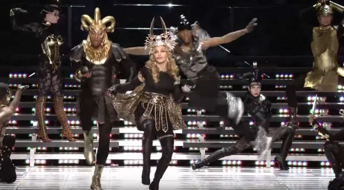 Reminded of Madonna's 2012 Super Bowl Halftime Show